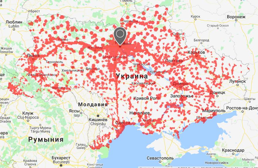 карта покрытия 3g